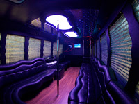 Interior of the 18 Passenger Vancouver Limobus